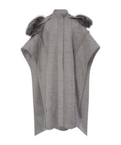 Prabal Gurung | Braid Embroide Hooded Poncho With Fox Fur