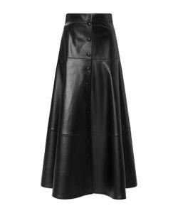 Michael Kors Collection   Leather Midi Skirt