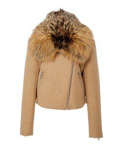 Sally Lapointe | Fur Collar Moto Jacket