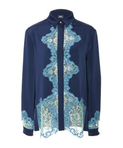 Alexis Mabille | Long Sleeve Lace Insert Blouse