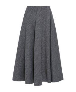 Paule Ka | Neoprene Fla Paneled Skirt