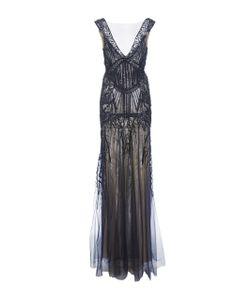Monique Lhuillier | V-Neck Embroide Gown