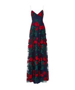 Adam Selman   Embroide Tulle Overlay Gown