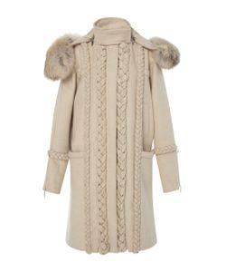 Prabal Gurung | Braid Embroide Wool Coat With En Fox Fur
