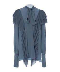Prabal Gurung | Long Sleeve Tie Neck Silk Blouse