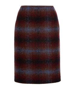 Paule Ka | Ombre Check Wool Pencil Skirt