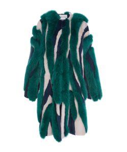 Prabal Gurung | Striped Mink And Fox Fur Coat