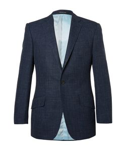 Richard James | Hyde Slim-Fit Checked Wool Silk And Linen-Blend