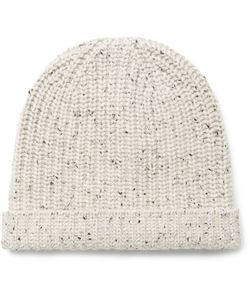 Alex Mill | Ribbed Mélange Cashmere Beanie Off-