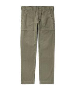 Alex Mill | Slim-Fit Herringbone Cotton Trousers