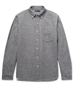 Alex Mill | Button-Down Collar Herringbone Cotton-Flannel Shirt