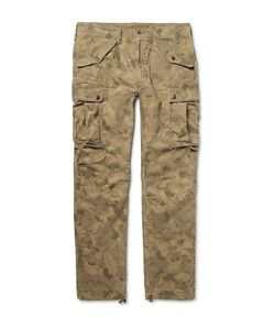 Rrl   Miller Camouflage-Print Cotton-Blend Cargo Trousers