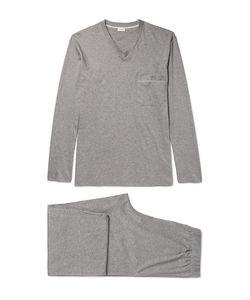 Zimmerli | Mélange Mercerised Cotton-Jersey Pyjama Set