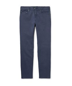 Hackett | London Slim-Fit Brushed Stretch-Cotton Twill Trousers