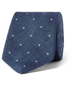 Richard James | 8cm Polka Dot-Embroidered Silk-Délavé Tie