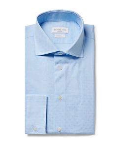 Richard James | Cutaway-Collar Cotton-Jacquard Shirt