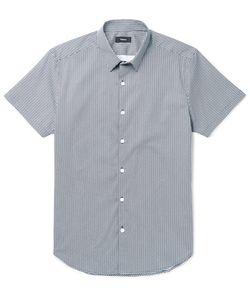 Theory | Zack Printed Stretch-Cotton Poplin Shirt