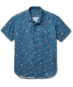 The Elder Statesman | Camp-Collar Printed Cotton-Gauze Shirt