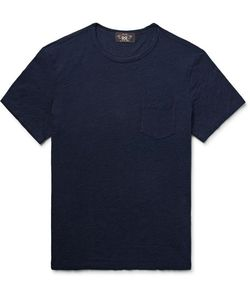 Rrl   Indigo-Dyed Slub Cotton-Jersey T-Shirt