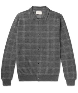 Oliver Spencer | Malden Checked Knitted Merino Wool Cardigan