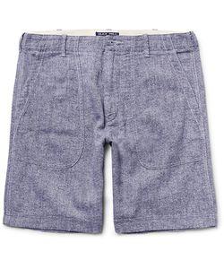 Alex Mill | Slim-Fit Mélange Linen And Cotton-Blend Shorts Storm