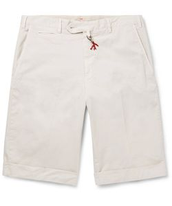 Isaia | Stretch-Cotton Twill Shorts