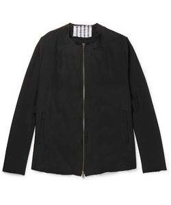 By Walid | Liam Collarless Embroide Silk Jacket