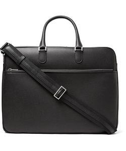 Valextra | Soft Avietta Pilotina Pebble-Grain Leather Briefcase