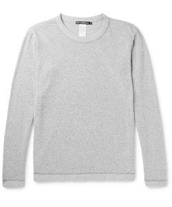 Issey Miyake   Men Mélange Cotton-Blend Bouclé Sweatshirt