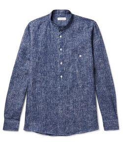 Richard James | Grandad-Collar Patterned Linen Shirt
