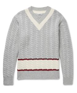 Tomas Maier | Slim-Fit Cable-Knit Wool Cricket Sweater