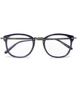 Oliver Peoples   Op-506 D-Frame Acetate And Gunmetal-Tone Optical Glasses