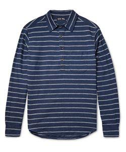 Alex Mill | Half-Placket Striped Linen And Cotton-Blend Shirt Storm