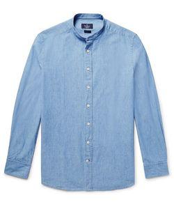 Hackett | Slim-Fit Grandad-Collar Cotton-Chambray Shirt