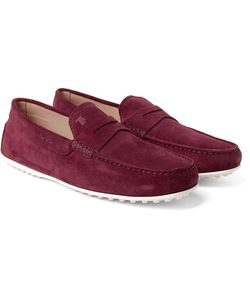 Tod's | City Gommino Suede Penny Loafers