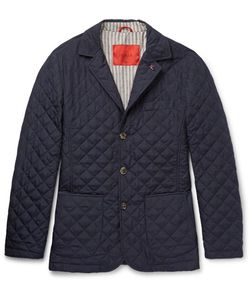 Isaia | Quilted Checked Shell Jacket
