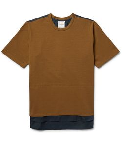 Wooyoungmi | Two-Tone Cotton-Jersey And Poplin T-Shirt