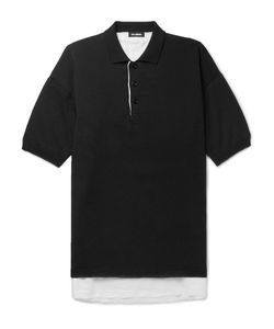 Raf Simons | Oversized Linen-Lined Knitted Cotton Polo Shirt