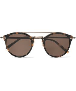 Oliver Peoples   Remick Round-Frame Acetate And Burnishedtone Sunglasses