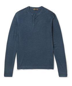 Loro Piana | Wool And Silk-Blend Henley T-Shirt