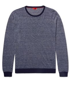 Isaia | Striped Cotton And Linen-Blend Sweater