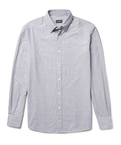 Ermenegildo Zegna | Slim-Fit Button-Down Collar Micro-Checked Cotton Shirt