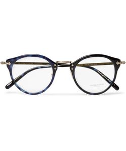 Oliver Peoples   Op-505 Round-Frame Acetate And Paletone Optical Glasses