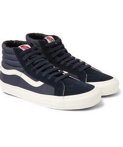 Vans | Og Sk8-Hi Lx Leather-Trimmed Suede And Canvas High-Top Sneakers