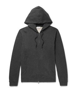 Sunspel | Brushed Loopback Cotton-Jersey Zip-Up Hoodie