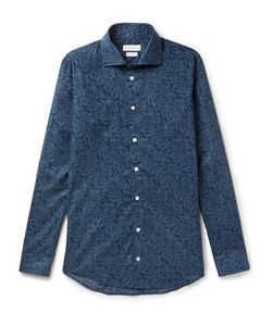 Richard James | Slim-Fit Printed Cotton-Poplin Shirt