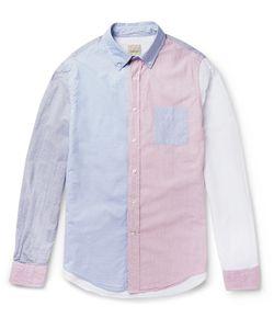Wooster + Lardini | Slim-Fit Colour-Block Striped Cotton Shirt