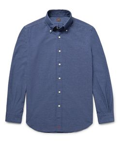 Mp Massimo Piombo | Slim-Fit Button-Down Collar Cotton-Blend Chambray Shirt
