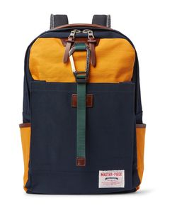 Master Piece | Master-Piece Link Leather-Trimmed Colour-Block Nylon Backpack