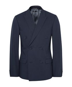 Calvin Klein Collection   Neville Slim-Fit Double-Breasted Bonded Cotton Blazer
